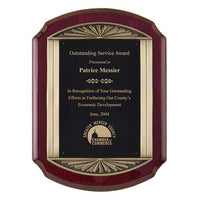 Rosewood Piano Finish Plaque