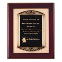Rosewood Piano Finish Plaque Cast Frame