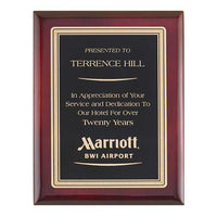 Rosewood Piano Finish Plaque with Brass Plate - P4155 Series