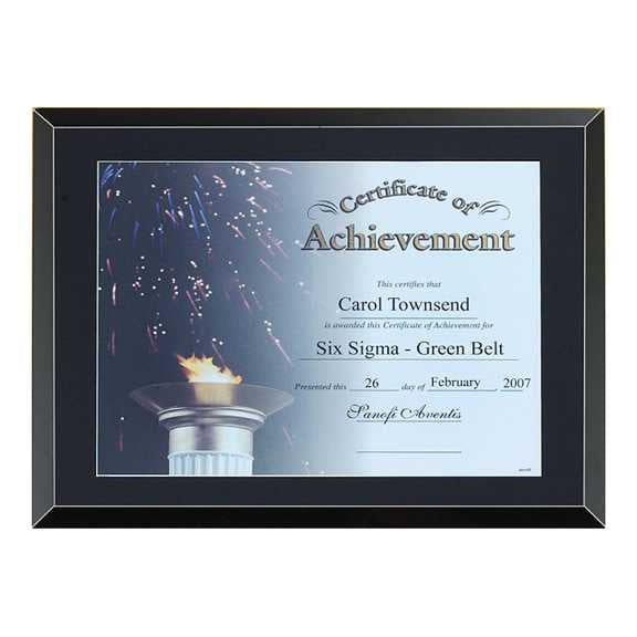 "Black Glass Certificate Award 11"" x 14"" - P4190"