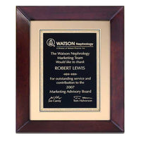 Cherry Finish Wood Frame Plaque - P4270