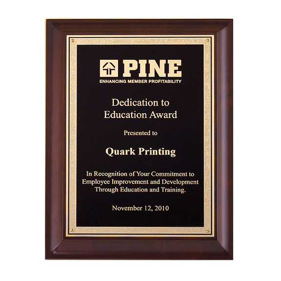 Cherry Finish Plaque - P4540 Series