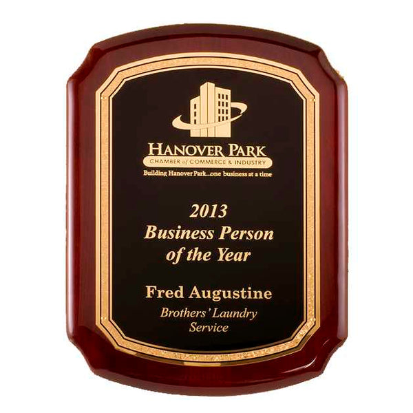 Rosewood Piano Finish Plaque - P5020 Series