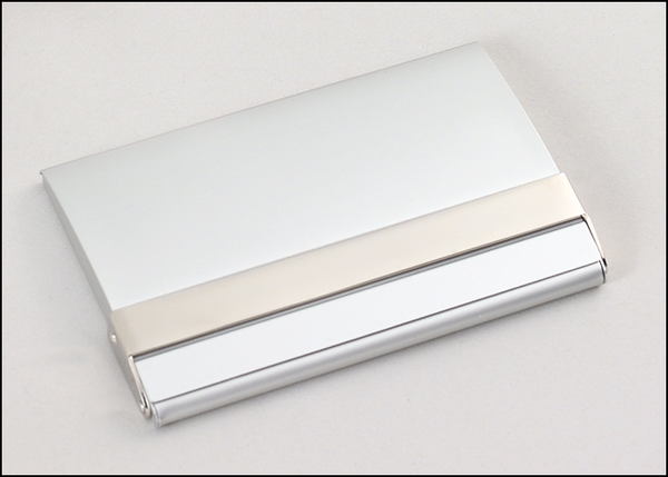 Matte Silver Business Card Case