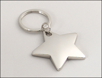 "Silver Plated Star Keying 1-7/8"" wide x 3"" tall"
