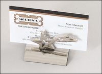 Silver Plated Star Business Card Holder