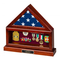 Solid Wood Flag Case with Shadow Box