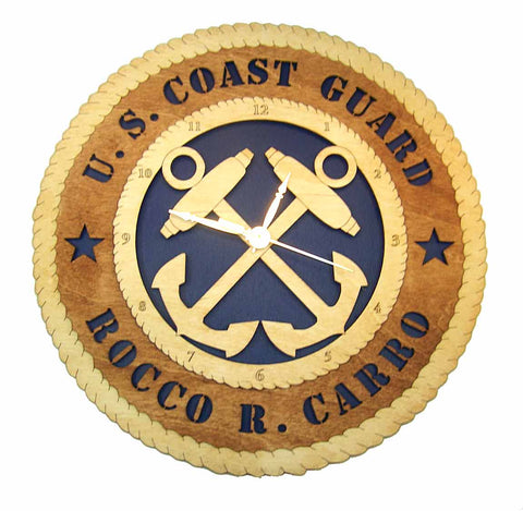 U.S. Coast Guard Wall Clock - Premier