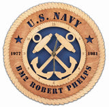 U.S. Navy Wall Clock - Premier - Qualification Badges/Staff Corps Insignia/Emblems/Ranks