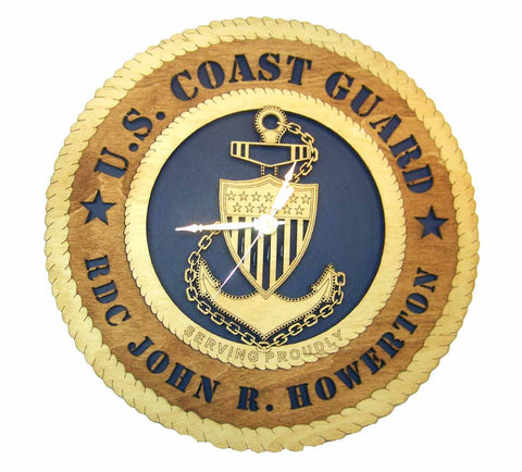 U.S. Coast Guard Wall Clock - Custom