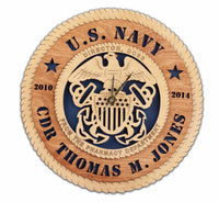 U.S. Navy Wall Clock - Custom - Qualification Badges/Staff Corps Insignia/Navy Emblems/Ranks