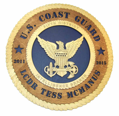 U.S. Coast Guard Wall Tribute - Custom