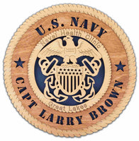 U.S. Navy Wall Tribute - Custom - Qualification Badges/Staff Corps Insignia/Navy Emblems/Ranks