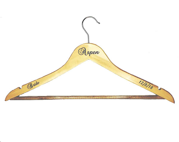 Personalized Wooden Clothes Hanger