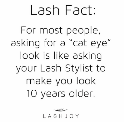 Why Cat Eye Lash Styling Makes Most People Look 10 Years Older