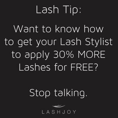How To Get Your Lash Stylist To Apply More Lashes (For FREE!)
