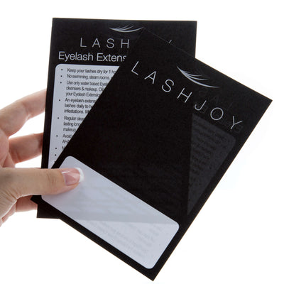 Aftercare Cards Eyelash Extensions