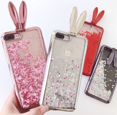 Rabbit Ear Glitter iPhone Case