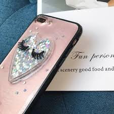 Glitter Heart with Lashes iPhone Case