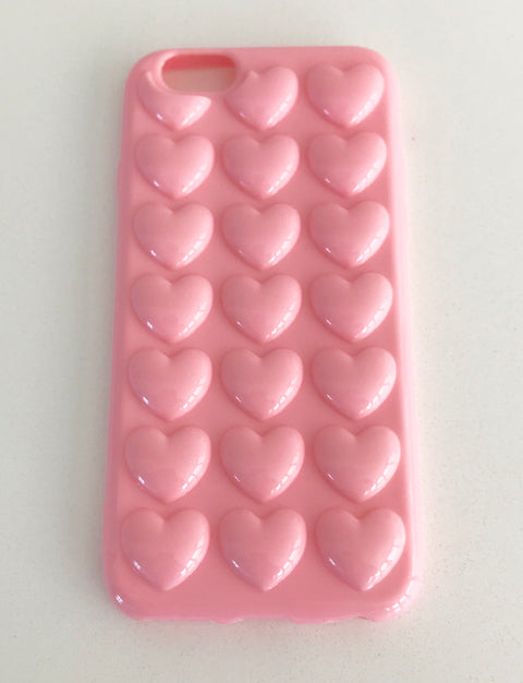 Pastel Pink 3D Love Heart IPhone Case