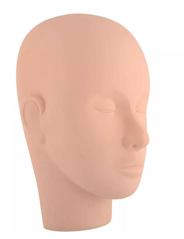 Training Mannequin Head for Eyelash Extension Practice (Flat Back)