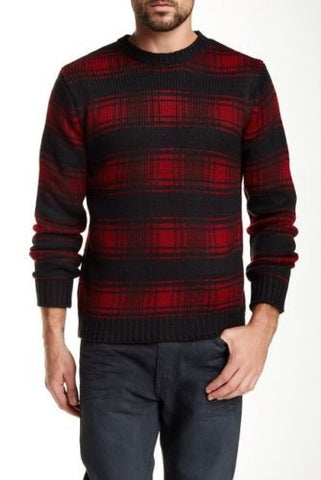 Native Youth Men's Logger Check Crew Neck Sweater - Size XL - $100