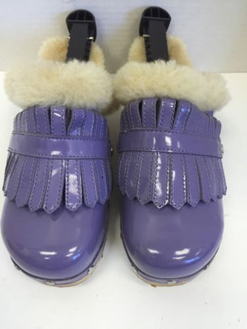 UGG Purple Patent  Leather Keltie Clog Sz 5 C4