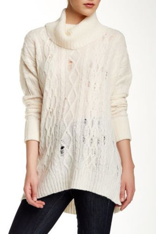 Free People Complex Cable Knit Sweater - Size Small - Retail $128.00 - CAC15