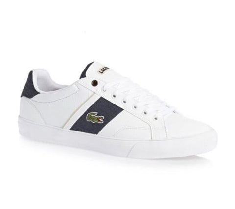 Lacoste Sport FAIRLEAD CSU White/Blue Lace-Up Fashion Sneakers Sz.10.5 C4
