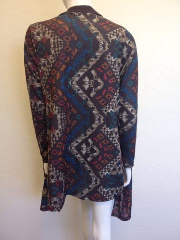 Liberty Love Jacket Cardigan Burgandy Tribal Size Small (ns78)