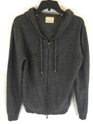 7 Diamonds Men's Dark Gray Full Zip Hoodie Sz Small I623