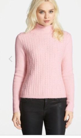 New womens chelsea28 textured turtleneck pink Sz L IJ70