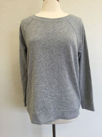 Women's Calvin Klein Sleepwear Plain Grey Long Sleeve Sweater M K74