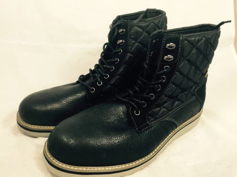 STACY ADAMS MASTERMIND MEN'S BLACK LEATHER Lace Up BOOTS sz 10.5 M $95  B9