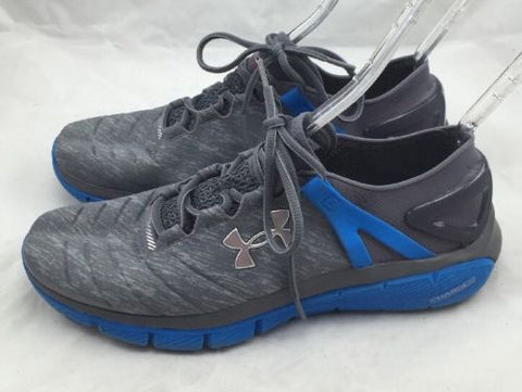Under Armour Men's SpeedForm Fortis Grey Blue Running Shoe size 11.5 ns621