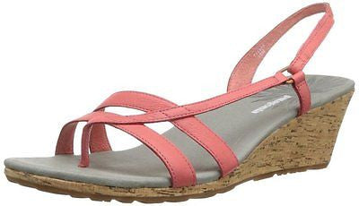 Patagonia Women's Solimar Wedge Sling Sandal Coral Leather 9M C7