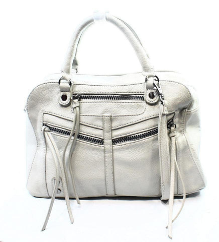 Carlos Santana Women's 'Zoey' Satchel Bag Faux Leather Bone White  $108 LD822