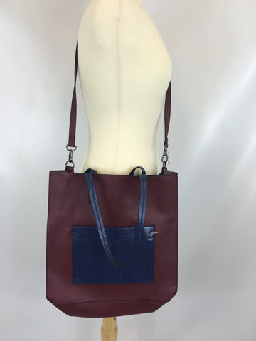 Danielle Nicole Women's Azelea Tote Bag Crossbody Plum Navy Large LD822