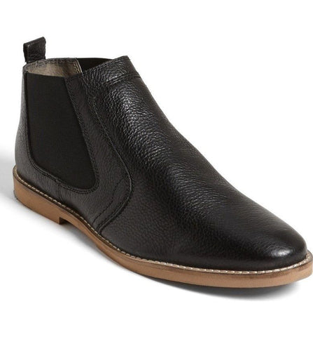 Frank Wright Men's Wise II Black Leather Chelsea Boots Size 8 s11/10