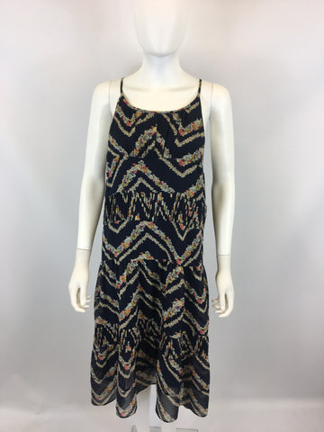Anthropologie HD in Paris Women's Blue Tank Dress Size: L