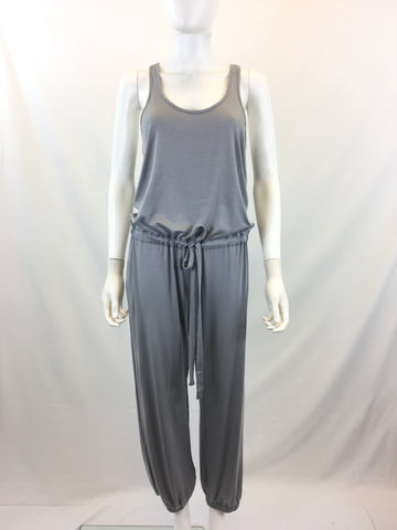 Rachel Pally Women's Light Gray Sleeveless Elastic Ankle Jumpsuit Size XS