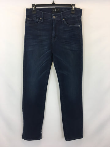 7 For All Mankind Women's Blue Denim Slimmy Jeans Size 30