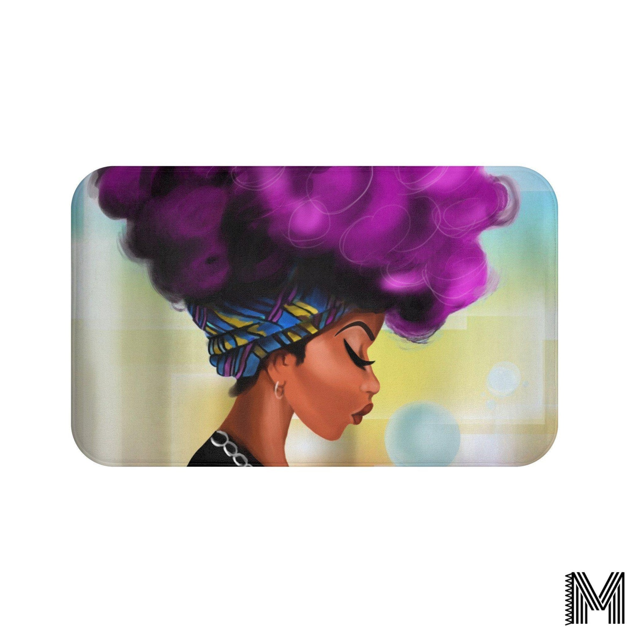 Afro Girl Bath Mat