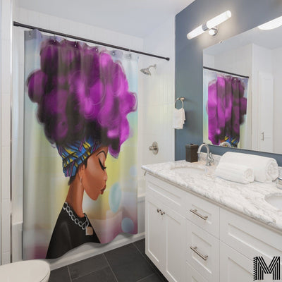 Afro Girl Shower Curtain