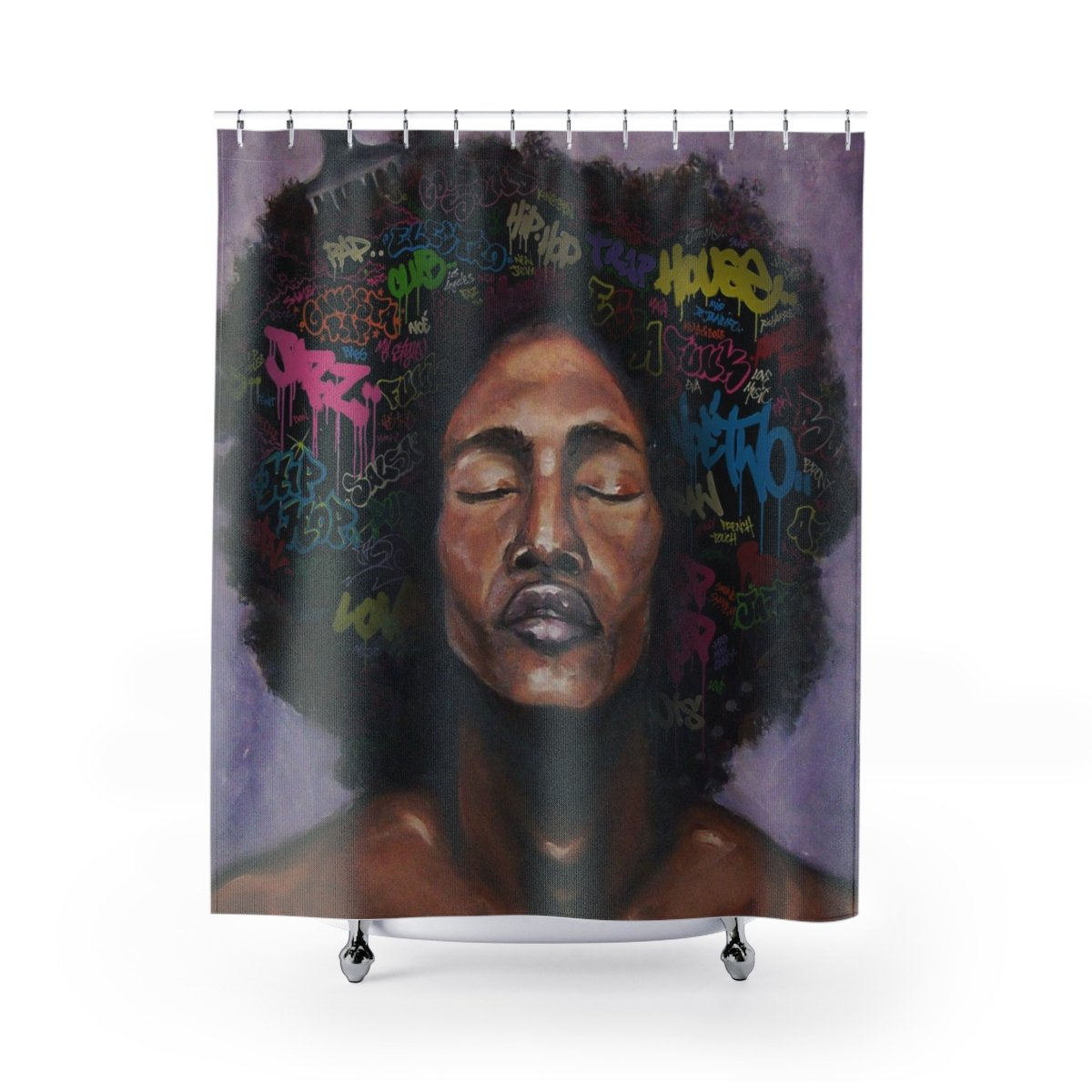 NEW Afro Male Shower Curtain