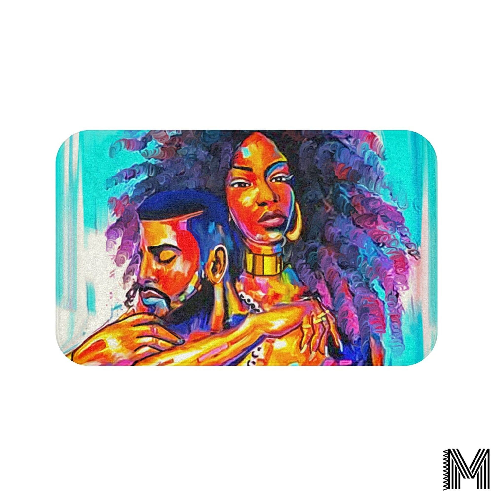 Black Love Bath Mat