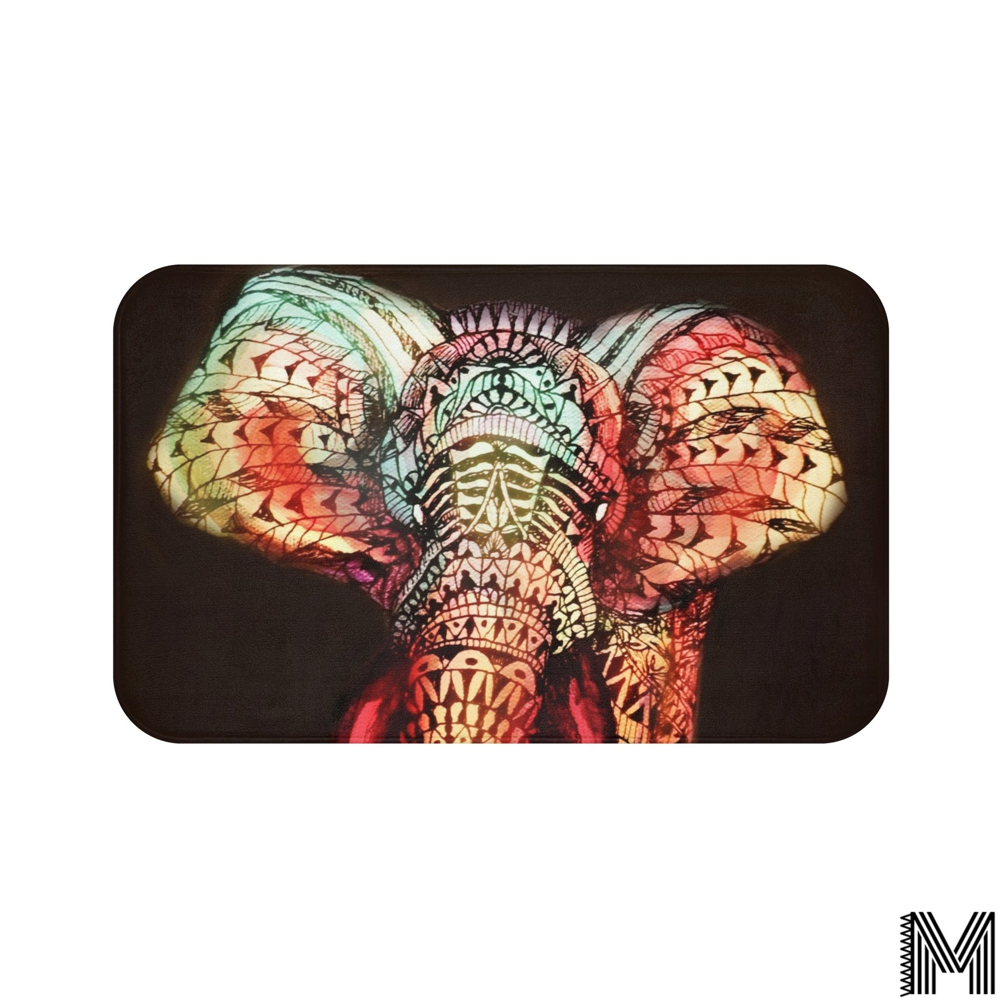Colorful Elephant Bath Mat