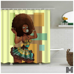 East African Woman Shower Curtain