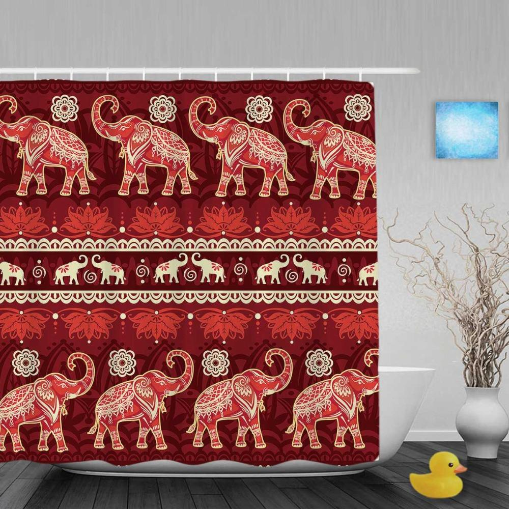 Abstract African Elephant Shower Curtain