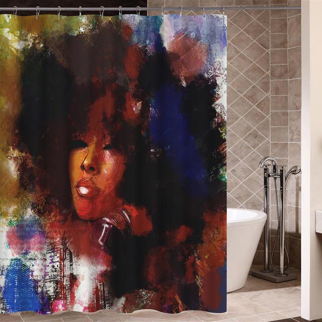 Melanin In Color Shower Curtain
